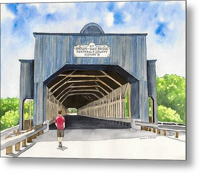 Smolen-gulf Bridge Metal Print