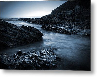 Smooth And Jagged Metal Print by Matt  Trimble