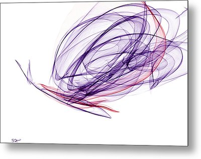 Smooth As Silk Butterfly Metal Print by Abstract Angel Artist Stephen K