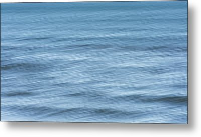 Smooth Blue Abstract Metal Print by Terry DeLuco