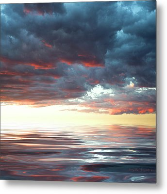 Smooth Sailing Metal Print by Jerry McElroy