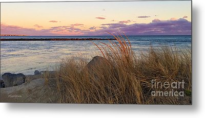 Metal Print featuring the photograph Smugglers Beach Sunset by Michelle Wiarda