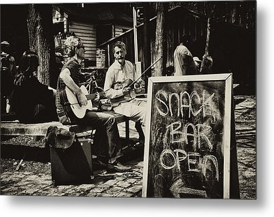 Snack Bar Open Metal Print by Bill Cannon