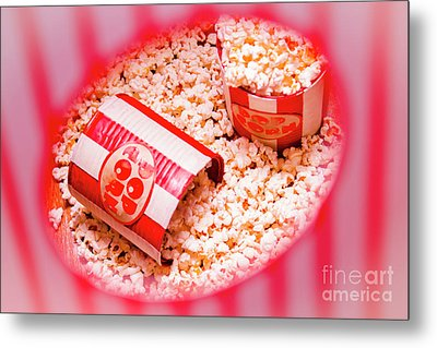 Snack Bar Pop Corn Metal Print