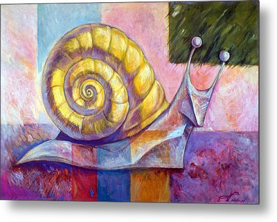 Snail Metal Print by Filip Mihail