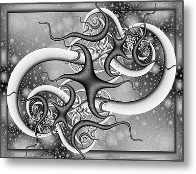 Snake In The Eagle Metal Print by David April