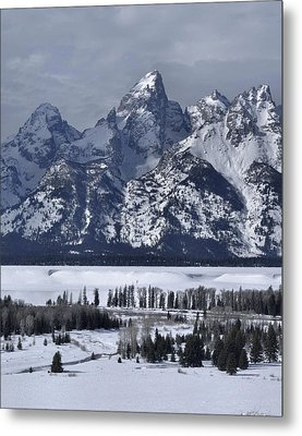 Snake River Overlook In Winter Metal Print by Stephen  Vecchiotti