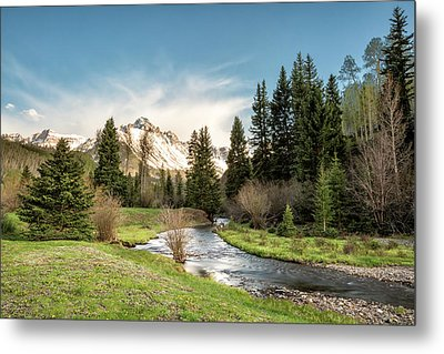 Sneffels And Spring Stream Metal Print