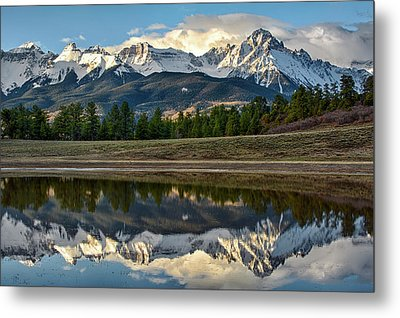 Sneffels Reflected Metal Print
