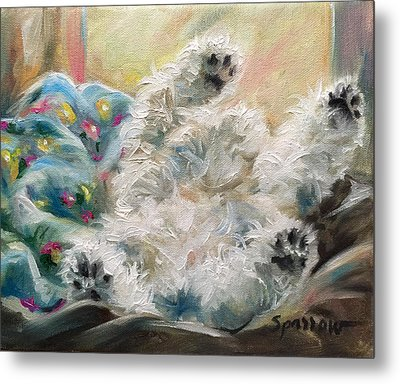 Snoozing Metal Print by Mary Sparrow