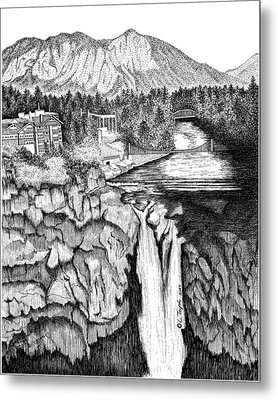 Snoqualmie Falls Metal Print by Lawrence Tripoli