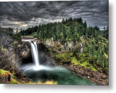 Snoqualmie Falls Storm Metal Print by Shawn Everhart