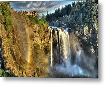 Snoqualmie Falls, Washington Metal Print by Greg Sigrist