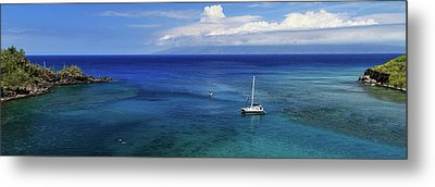 Metal Print featuring the photograph Snorkeling In Maui by James Eddy