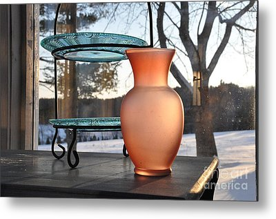 Metal Print featuring the photograph Snow And Glass by John Black