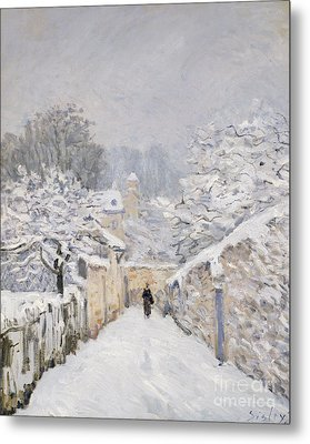 Snow At Louveciennes Metal Print