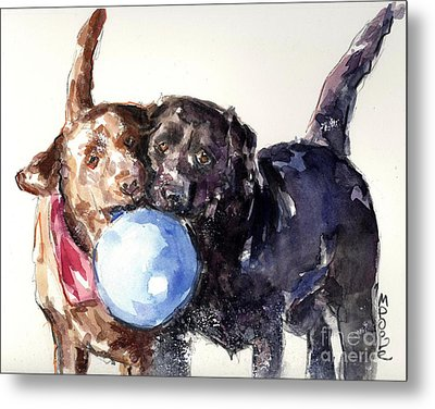 Snow Ball Metal Print by Molly Poole