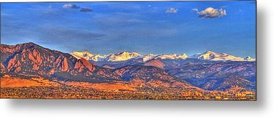 Snow-capped Panorama Of The Rockies Metal Print by Scott Mahon
