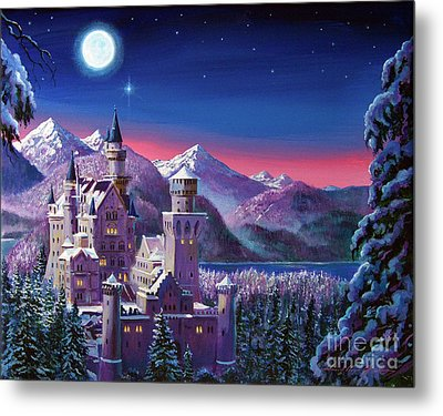 Snow Castle Metal Print by David Lloyd Glover