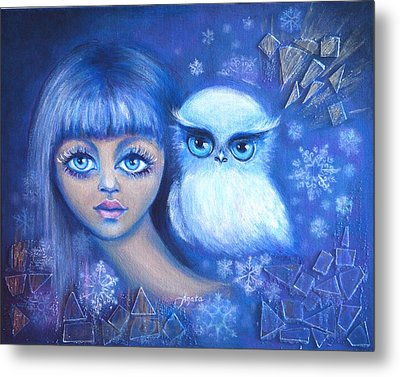 Snow Children Metal Print