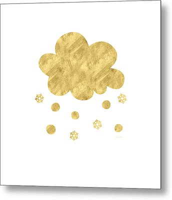 Snow Cloud- Art By Linda Woods Metal Print