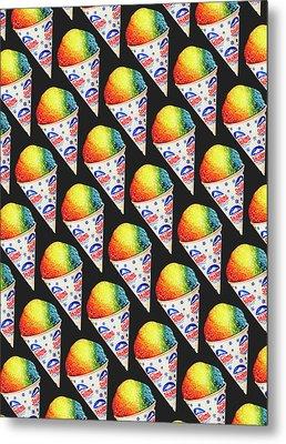 Snow Cone Pattern Metal Print by Kelly Gilleran