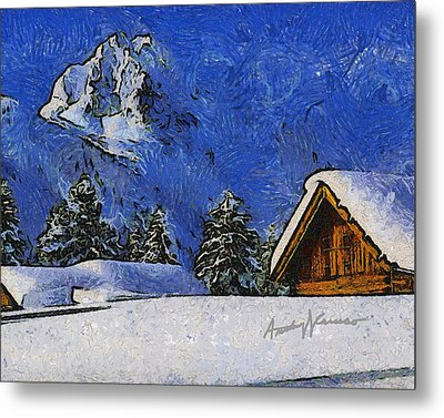 Snow Covered Metal Print by Anthony Caruso