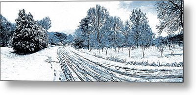 Snow Day Metal Print by Greg Joens