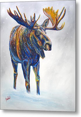 Snow Day Metal Print by Teshia Art
