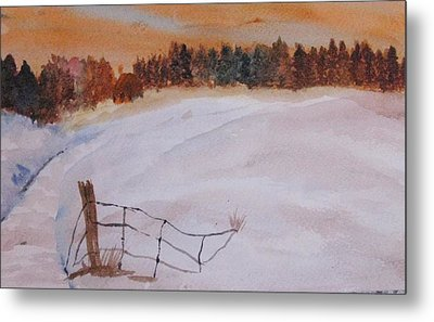 Metal Print featuring the painting Snow Drifts by Trilby Cole