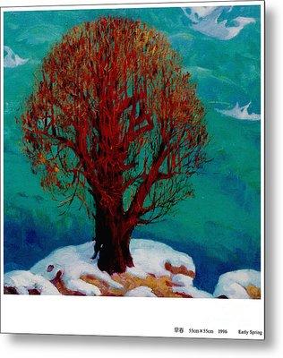 Snow Flame Metal Print by Xichang Sun