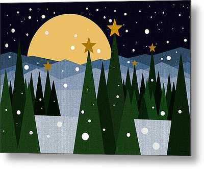 Snow Flurries Metal Print by Val Arie