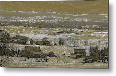 Snow In The Valley Metal Print by Vilas Malankar