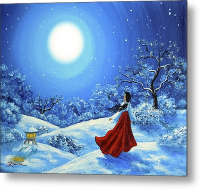 Snow Like Stars Metal Print by Laura Iverson