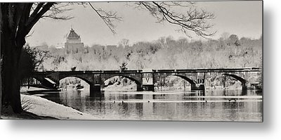 Snow On The River Metal Print by Bill Cannon