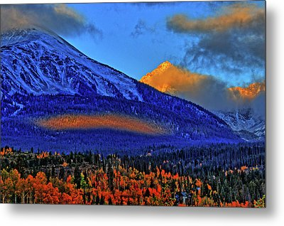 Metal Print featuring the photograph Snow Peak Fall by Scott Mahon