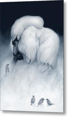 Snow Queen And Her Court Metal Print by Joel Payne
