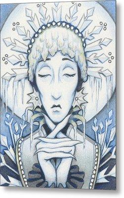 Snow Queen Slumbers Metal Print by Amy S Turner