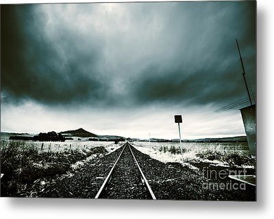 Metal Print featuring the photograph Snow Railway by Jorgo Photography - Wall Art Gallery
