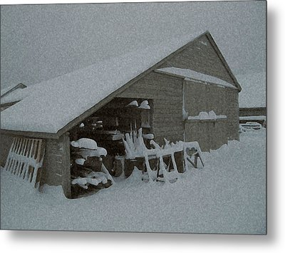 Snow Shed Metal Print by Paul Barlo