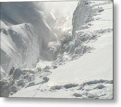 Metal Print featuring the photograph Snow Snow Snow by Sherri  Of Palm Springs