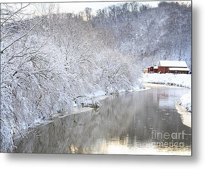 Snow Storm Metal Print by Joan Powell