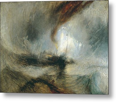 Metal Print featuring the painting Snow Storm by Joseph Mallord William Turner