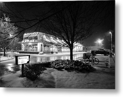 Metal Print featuring the photograph Snow Surprise by Jeanette O'Toole