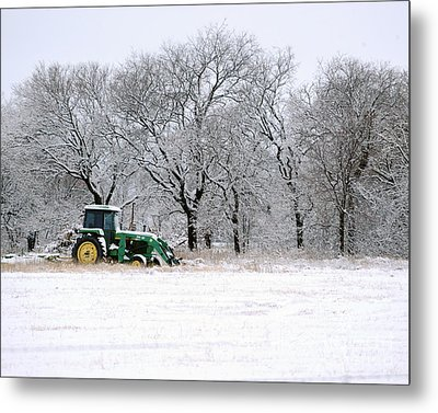 Snow Tractor Metal Print