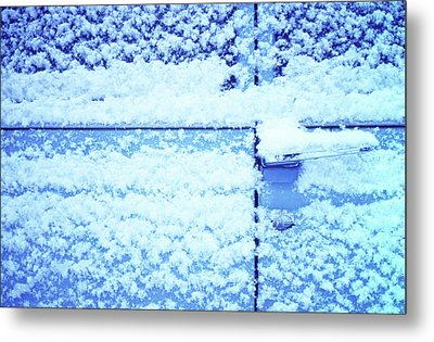 Metal Print featuring the photograph Snow Van 51 Chevy Panel by Laurie Stewart