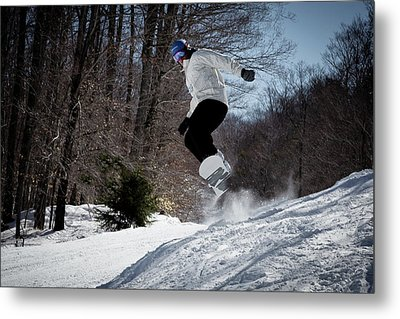 Metal Print featuring the photograph Snowboarding Mccauley Mountain by David Patterson