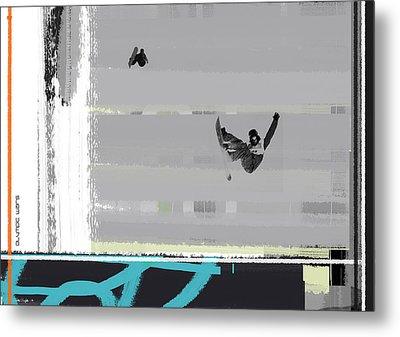 Snowboarding Metal Print by Naxart Studio