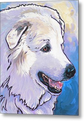 Snowdoggie Metal Print by Nadi Spencer