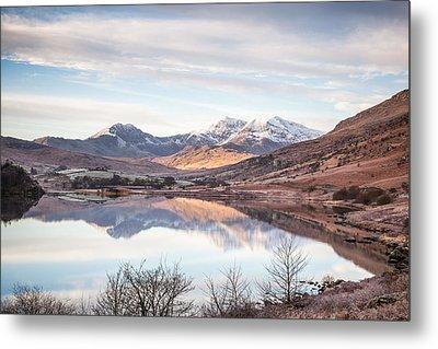 Snowdon Horseshoe Winter Reflections Metal Print